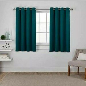 Sateen Twill Woven Blackout Curtain 2 Panels 52x63